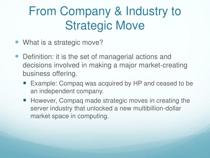 From Company & Industry to Strategic Move