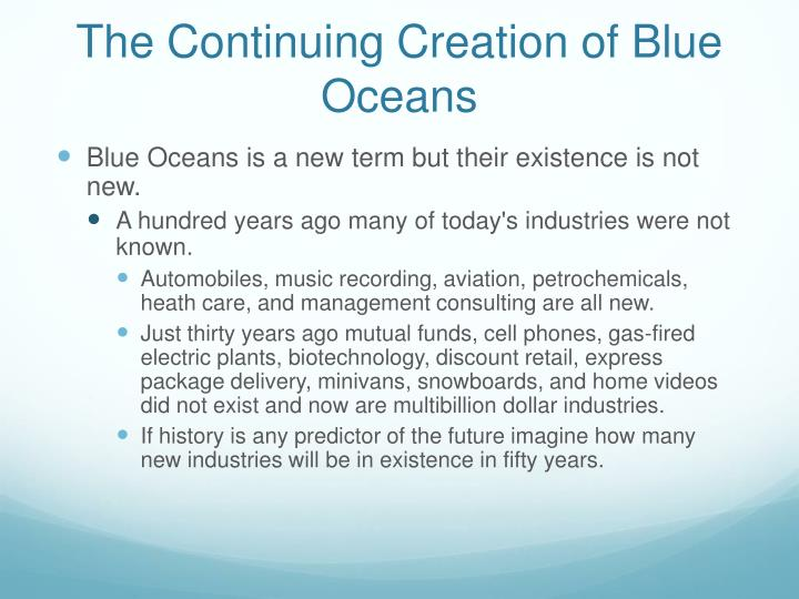 The Continuing Creation of Blue Oceans