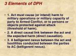 3 elements of dph
