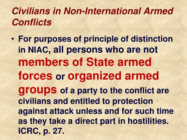 Civilians in Non-International Armed Conflicts