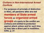 civilians in non international armed conflicts