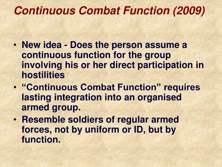 Continuous Combat Function (2009)