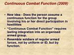 continuous combat function 2009