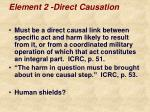 element 2 direct causation