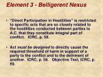 element 3 belligerent nexus