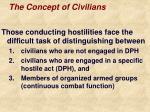 the concept of civilians
