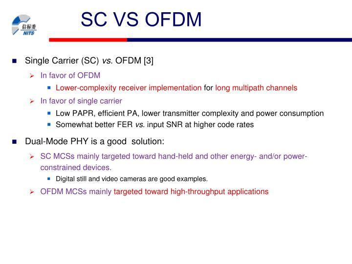SC VS OFDM