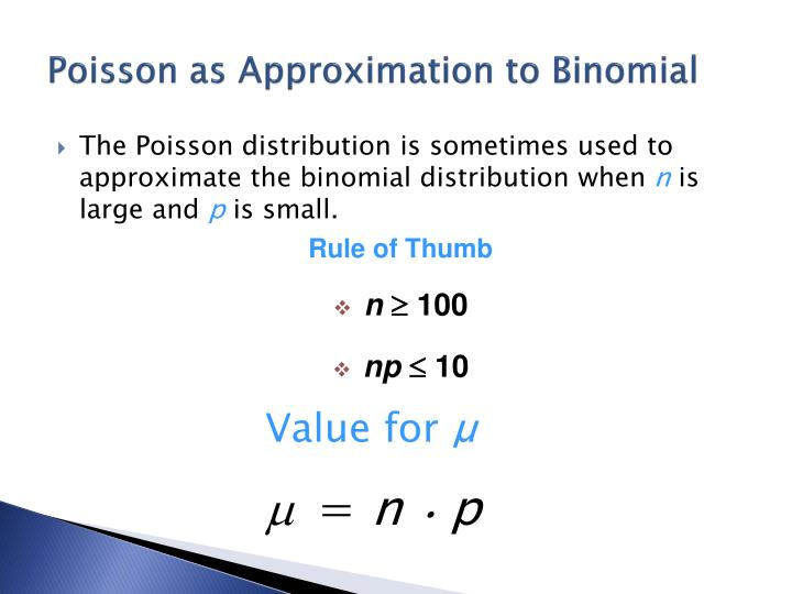 Poisson as Approximation