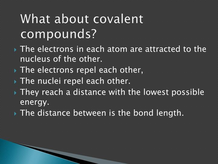 What about covalent compounds
