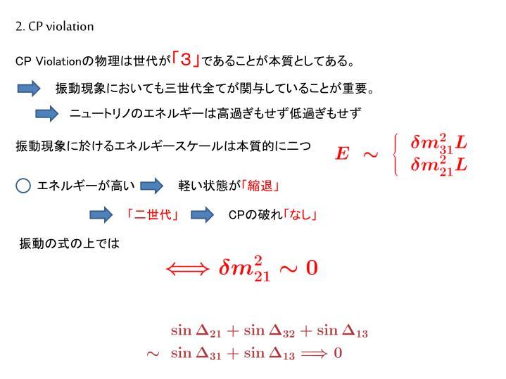 2. CP violation