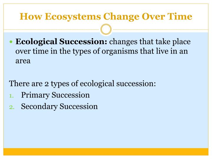 How Ecosystems Change Over Time