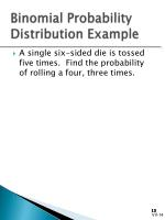 binomial probability distribution example