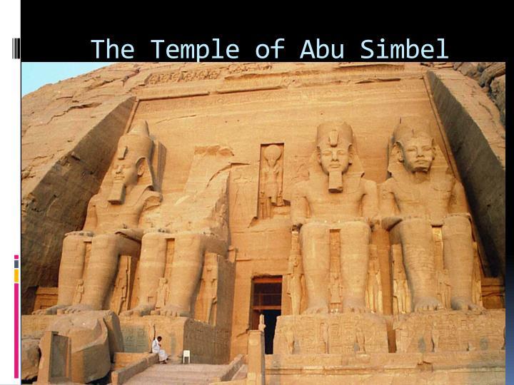 The Temple of Abu Simbel
