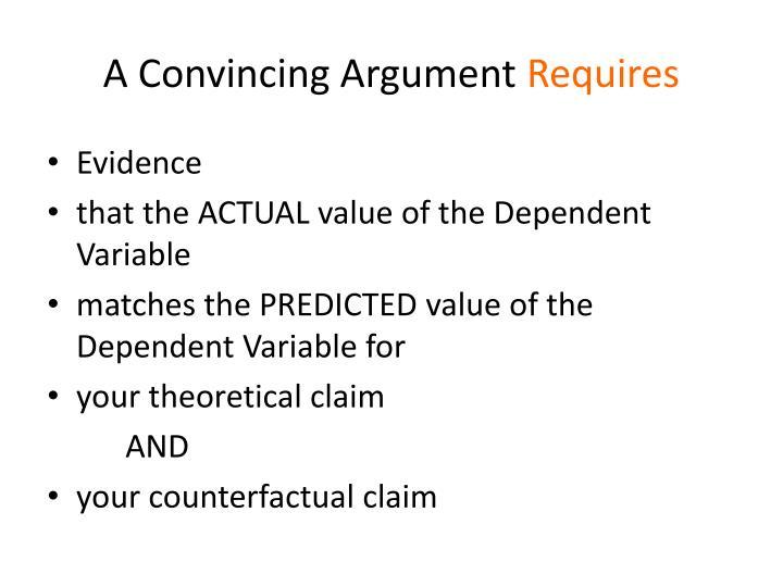 A Convincing Argument
