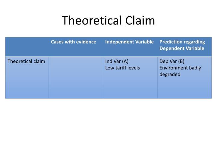 Theoretical Claim