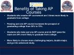 benefits of taking ap courses