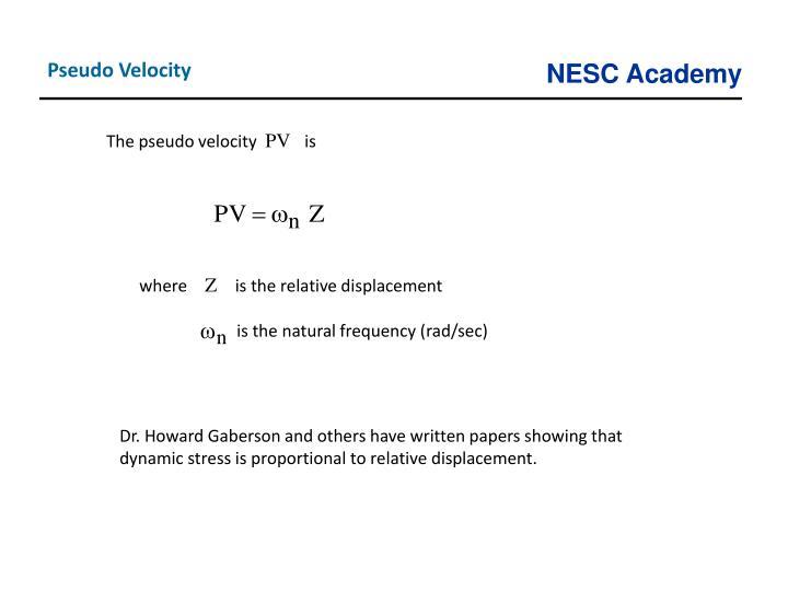 Pseudo Velocity