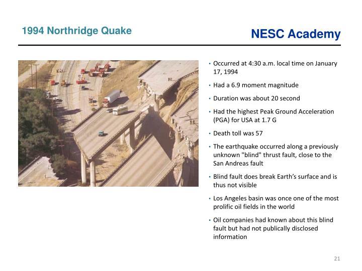1994 Northridge Quake