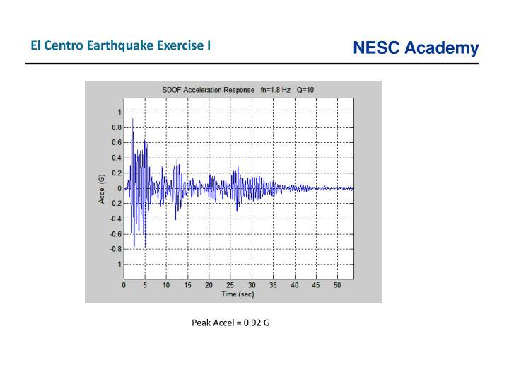 El Centro Earthquake Exercise I