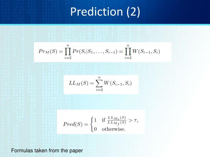 Prediction (2)