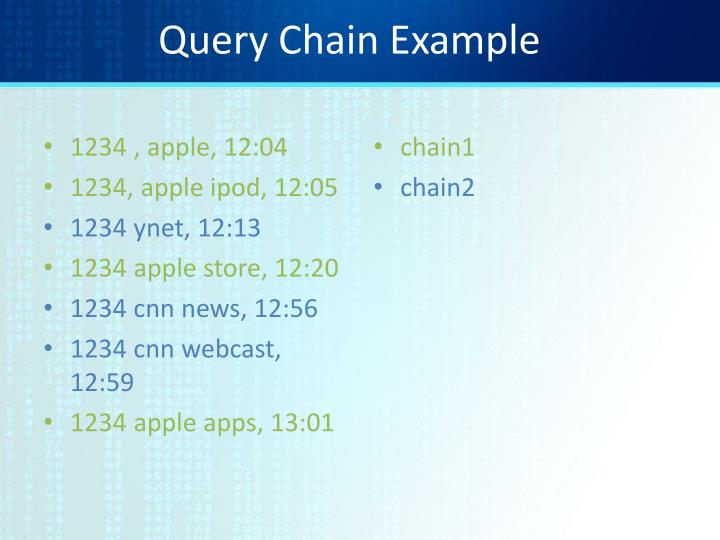 Query Chain Example