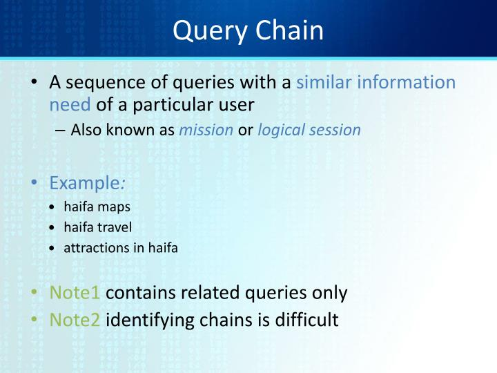 Query Chain