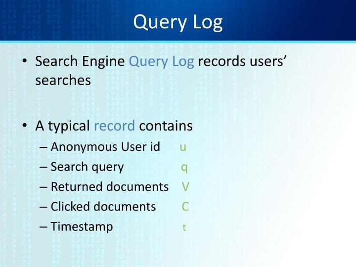 Query Log
