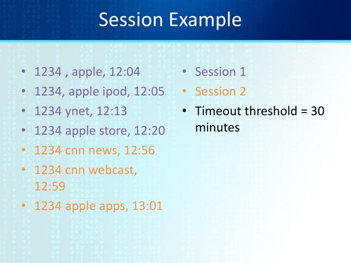 Session Example