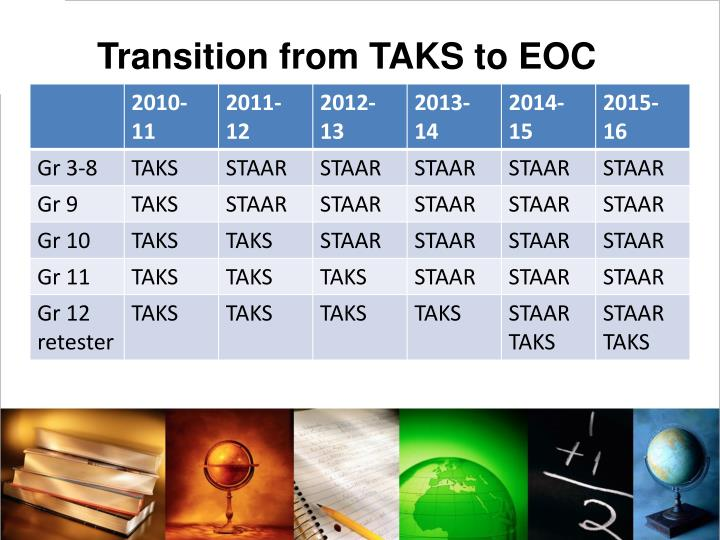Transition from TAKS to EOC