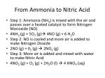 from ammonia to nitric acid