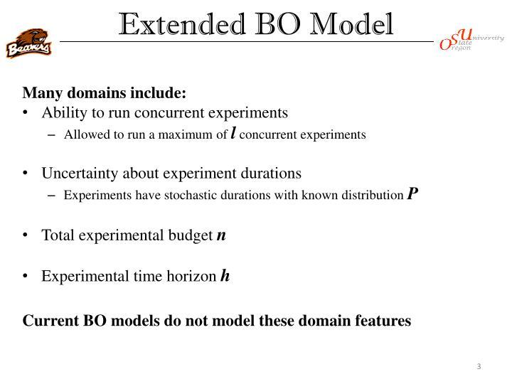 Extended BO Model