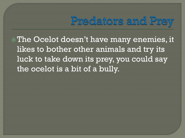 Predators and Prey