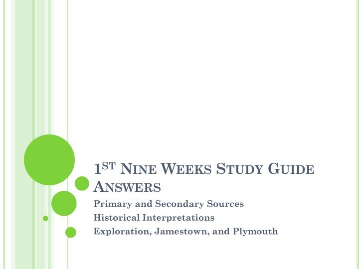 1 st nine weeks study guide answers