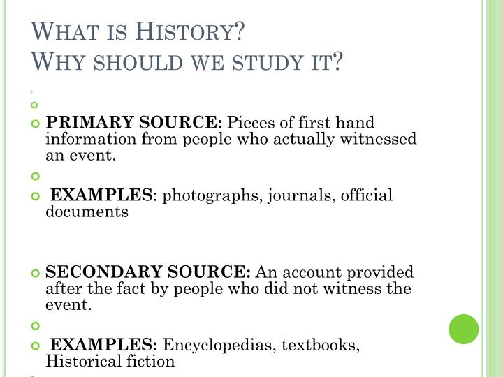 What is history why should we study it