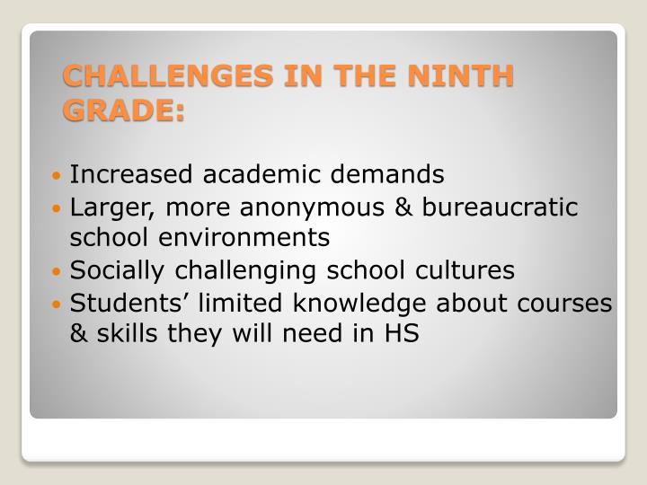 Increased academic demands