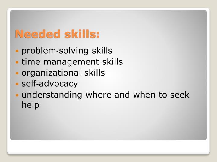 problem‐solving skills