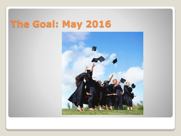 The Goal: May 2016