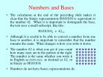 numbers and bases