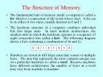 the structure of memory