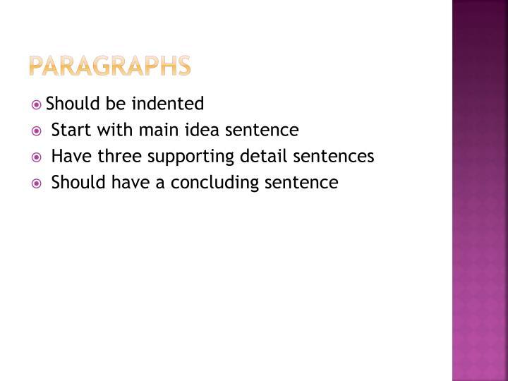 Paragraphs