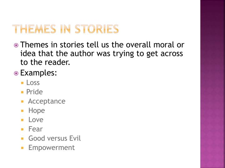 Themes in stories