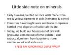 little side note on minerals