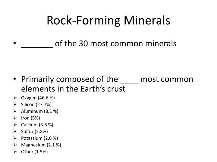 Rock-Forming Minerals