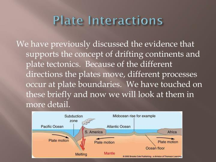 Plate Interactions
