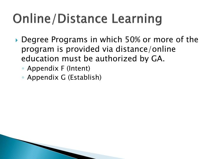 Online/Distance Learning