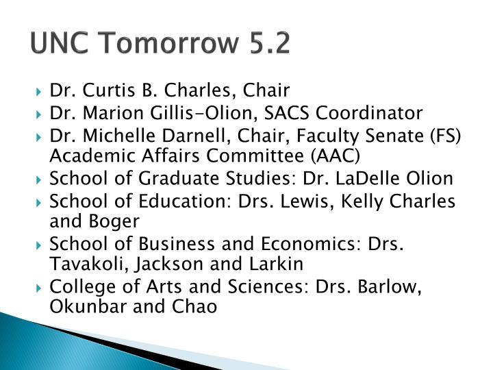 UNC Tomorrow 5.2