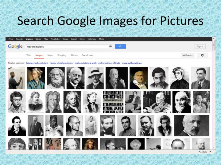 Search Google Images for Pictures