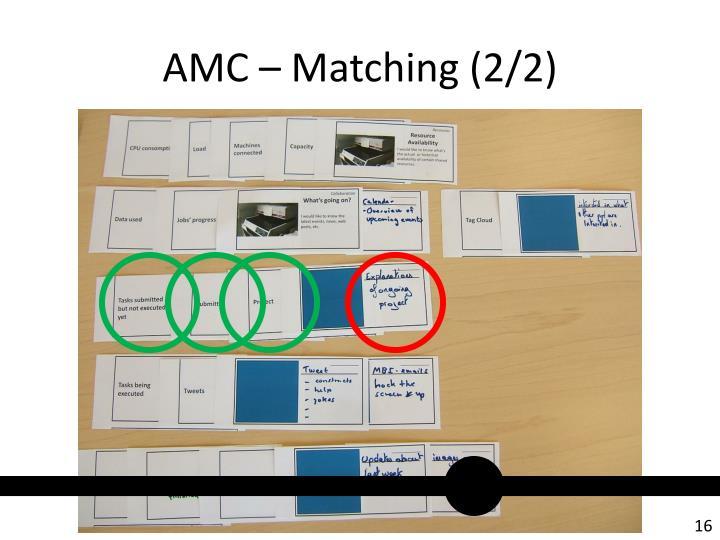 AMC – Matching (2/2)