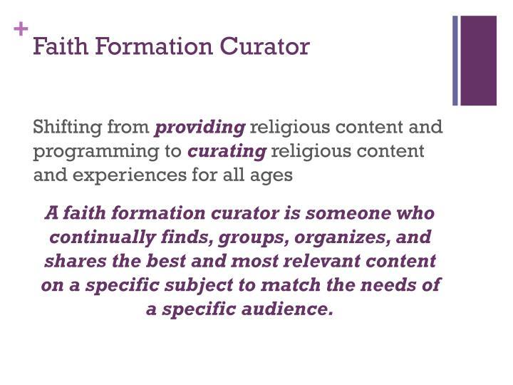 Faith Formation Curator