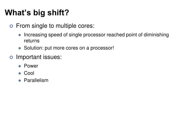 What's big shift?